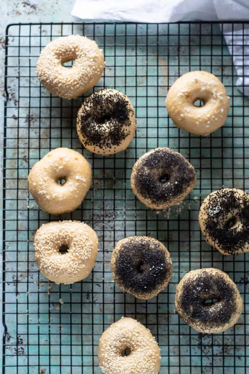 Bagels out of the oven