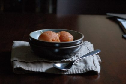 Peach Jasmine Sorbet. From Blossom to Stem   Because Delicious   www.blossomtostem.net