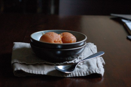 Peach Jasmine Sorbet. From Blossom to Stem | Because Delicious | www.blossomtostem.net