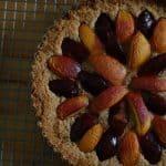 Plum Nectarine Almond Tart