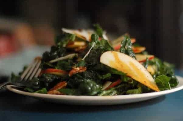 Apple Kale Salad From Blossom to Stem | Because Delicious www.blossomtostem.net