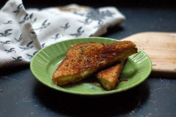 Triple Cream, Cheddar, and Sage Butter Grilled Cheese. Pretty much the best grilled cheese ever. From Blossom To Stem | Because Delicious www.blossomtostem.net