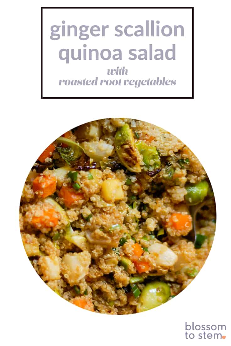 Ginger Scallion Quinoa Salad