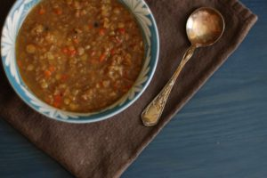 Lentil-Sweet Red Pepper Soup with Cumin and Black Pepper. Not flashy, but delicious. From Blossom To Stem | Because Delicious www.blossomtostem.net