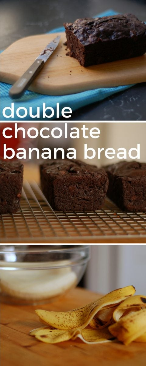 Double Chocolate Banana Bread. From Blossom to Stem | www.blossomtostem.net