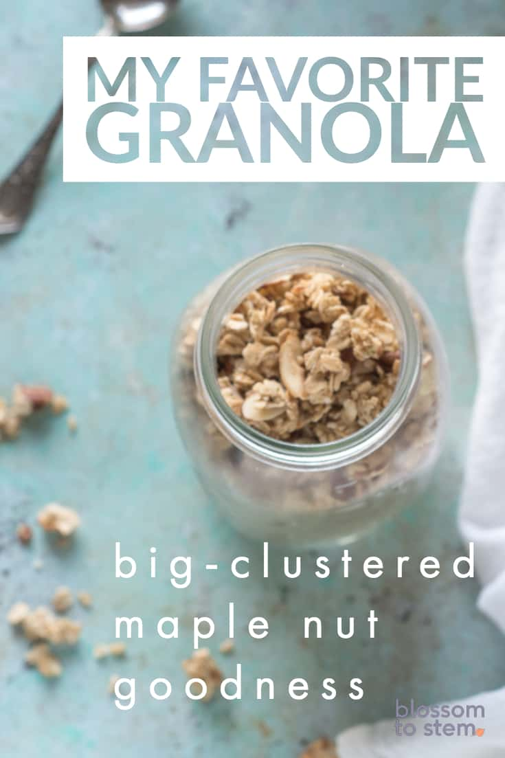 My Favorite Granola, big-clustered maple nut goodness