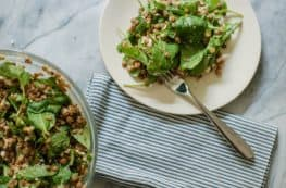 Lentil Arugula Salad with Feta and Red Wine Shallot Vinaigrette. So good. From Blossom To Stem | Because Delicious www.blossomtostem.net