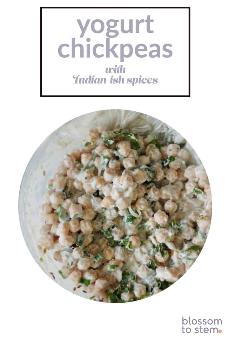 Yogurt Chickpeas with Indian-ish Spices