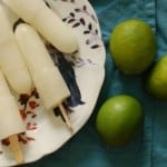 Lime popsicles. Perfect for the hottest summer days. From Blossom to Stem | Because Delicious www.blossomtostem.net