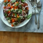 Tomato, Roquefort, and Red Onion Salad. A kicky, big-flavored salad to celebrate tomato season. From Blossom to Stem | Because Delicious https://www.blossomtostem.net