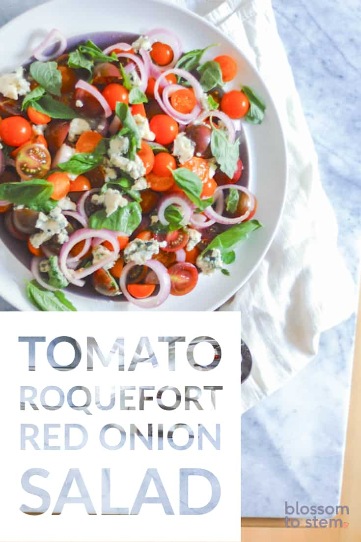 Tomato Roquefort and Red Onion Salad