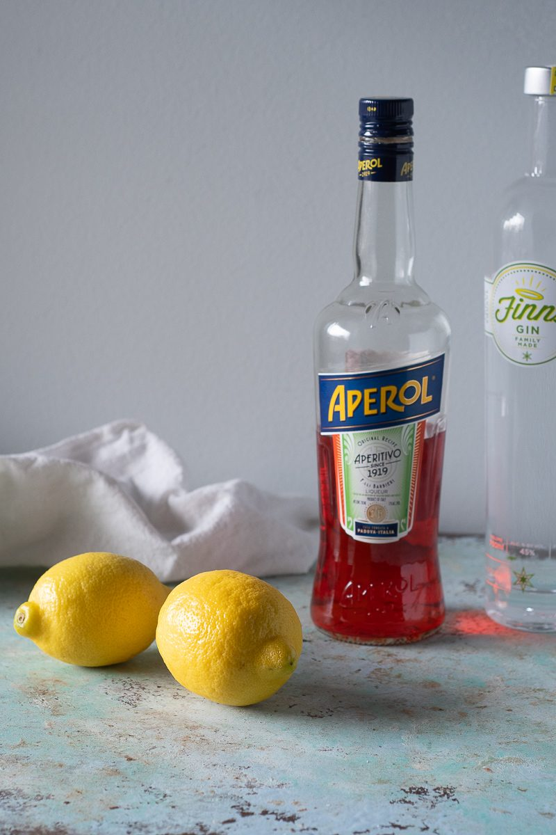 Aperol, gin, and lemons