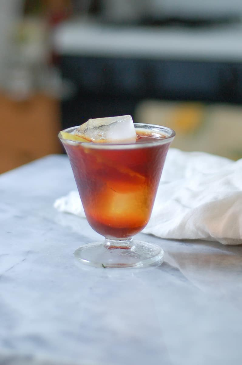 Bitter Giuseppe (Cynar and Sweet Vermouth Cocktail)