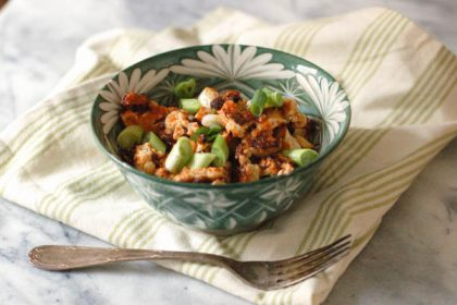 Sweet and Spicy Korean Cauliflower. This addictive dish will convert the cauliflower skeptics. From Blossom to Stem | Because Delicious www.blossomtostem.net