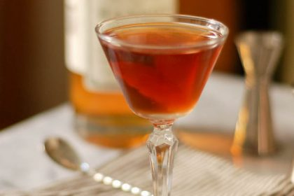 The Martinez Cocktail. A predecessor to the martini featuring Old Tom gin. Delicious! #thirstythursdays From Blossom to Stem | Because Delicious www.blossomtostem.net