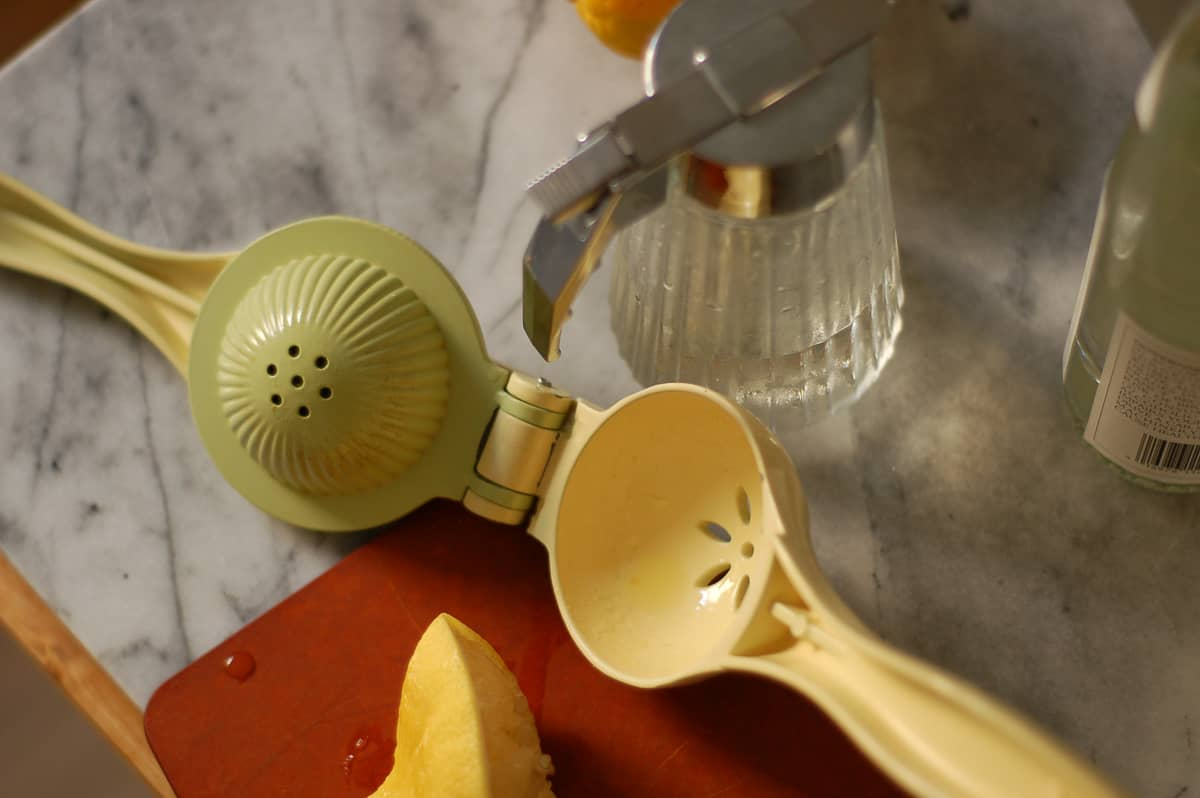 Citrus squeezer and simple syrup