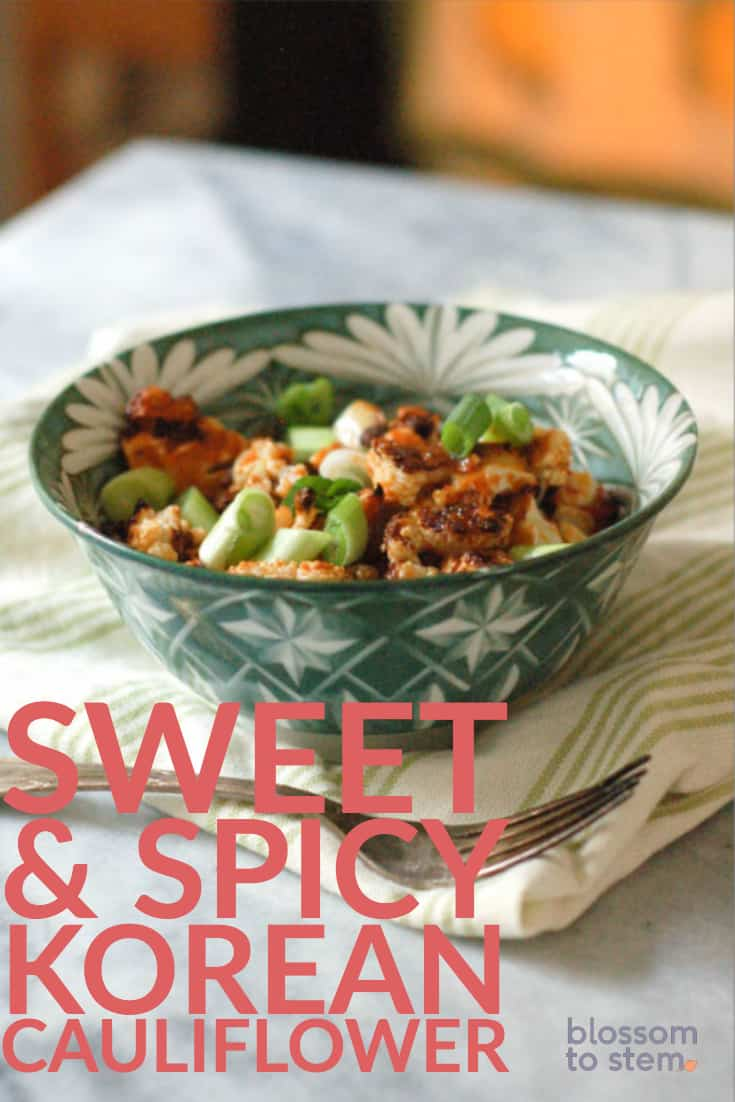 Sweet and Spicy Korean Cauliflower