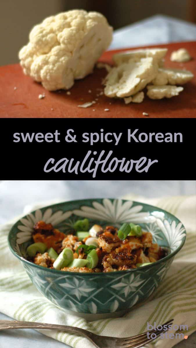 Sweet & Spicy Korean Cauliflower