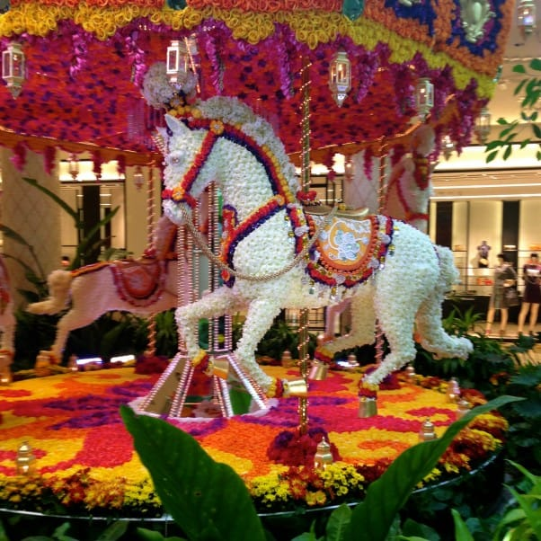 Carousel made of flowers at the Wynn, Las Vegas, NV From Blossom to Stem | Because Delicious www.blossomtostem.net