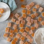 Passion Fruit Pate de Fruit (fruit jellies, or gummies). Gem-like chewy fruit candies. A lovely confection for a special occasion. From Blossom to Stem | Because Delicious www.blossomtostem.net