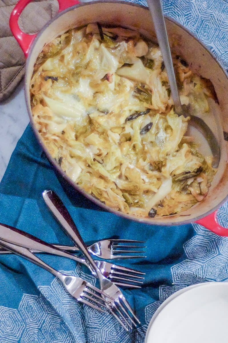 Savoy Cabbage Gratin with Delice de Bourgogne