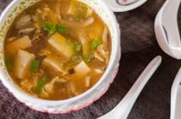 Hot and Sour Soup. A hearty, big-flavored Chinese soup that's surprisingly simple to make. From Blossom to Stem | Because Delicious www.blossomtostem.net Gluten free, vegetarian-adaptable