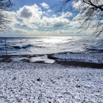 Lake Michigan from Foster Beach in Chicago, March 2015 From Blossom to Stem | Because Delicious www.blossomtostem.net