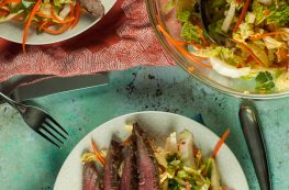 Vietnamese Flank Steak with Citrus Mint Cabbage Salad. From Blossom to Stem | Because Delicious www.blossomtostem.net #glutenfree #dairyfree