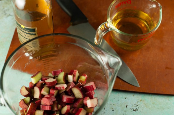 Pickled rhubarb. A savory spin on rhubarb and a simple way to brighten a salad. From Blossom to Stem | Because Delicious www.blossomtostem.net