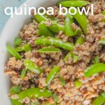 Sugar Snap Pea and Cashew Quinoa Bowl. From Blossom to Stem | www.blossomtostem.net