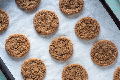 Chewy Citrus Molasses Spice Cookies