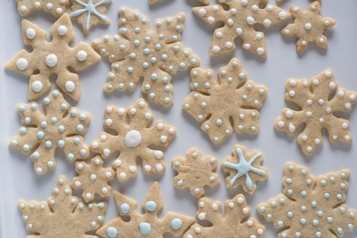Orange Cardamom Snowflake Cookies
