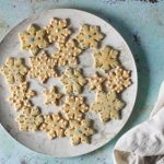 Orange Cardamom Snowflake Cookies. From Blossom to Stem | Because Delicious | www.blossomtostem.net