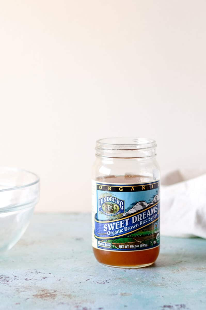 A jar of brown rice syrup