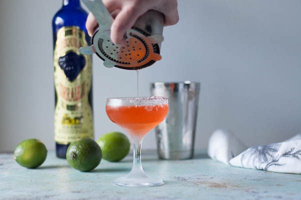 Cinco de Cuatro Margarita. A four-ingredient cocktail with Corralejo tequila, Aperol, elderflower liqueur, and lime. (Especially for fans of Arrested Development.) Blossom to Stem | Because Delicious | www.blossomtostem.net