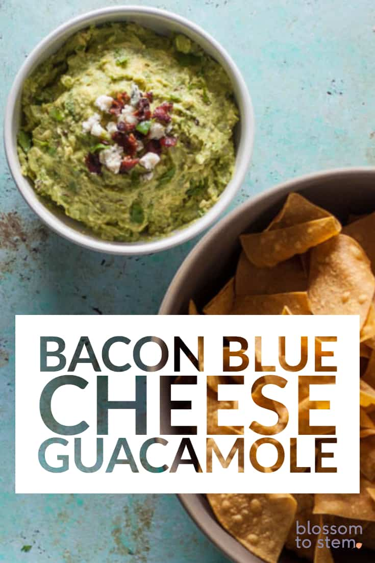 Bacon Blue Cheese Guacamole