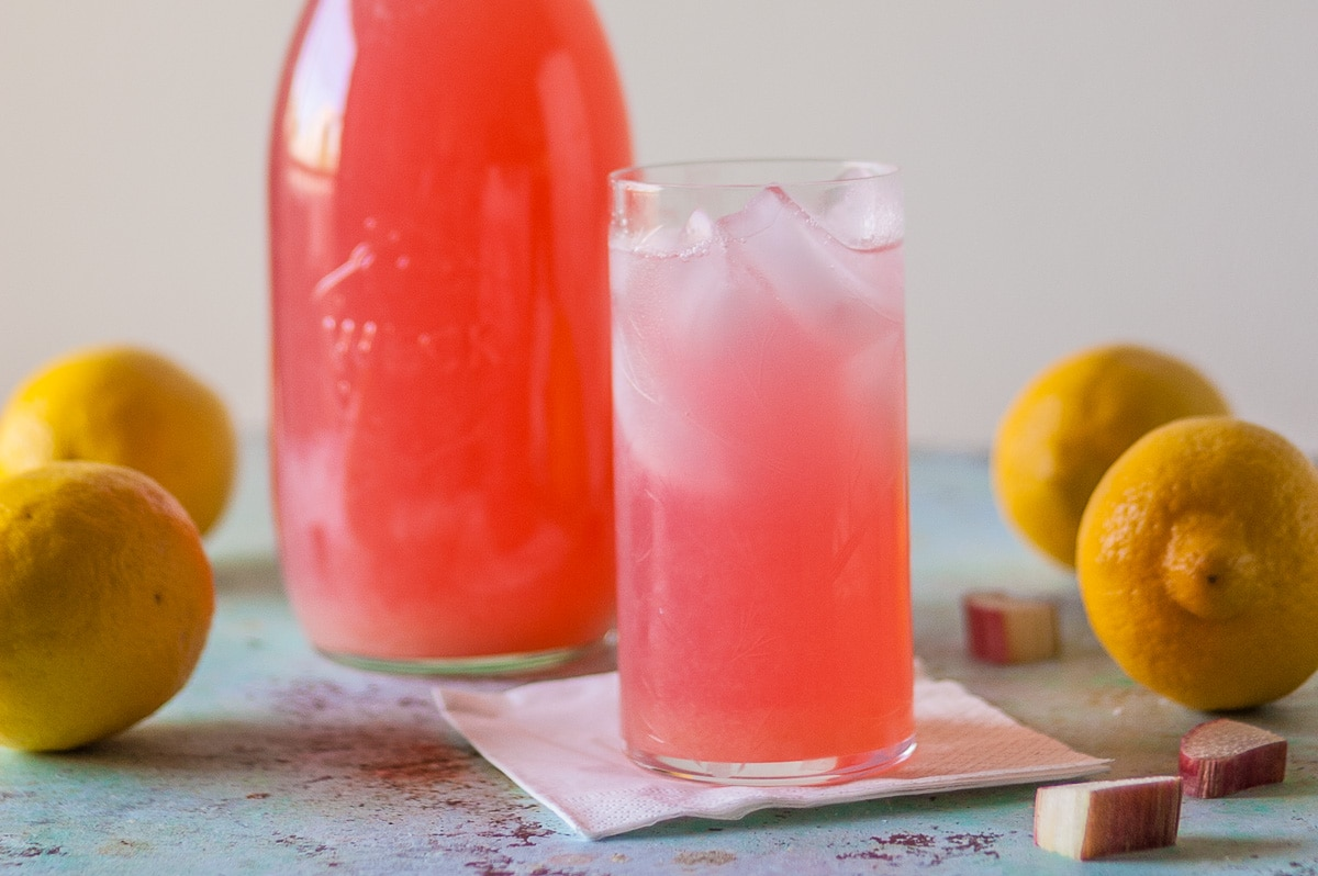 Rhubarb Pink Lemonade. From Blossom to Stem | www.blossomtostem.net