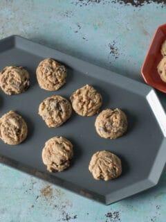 Chocolate Butterscotch Chip Cookies on a platter