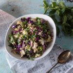 Grilled Cabbage Salad with Peanuts and Mint. Charred cabbage tossed in a Vietnamese sauce, showered with peanuts and mint. The perfect side for your next cookout. Gluten free. From Blossom to Stem | Because Delicious | www.blossomtostem.net