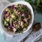 Grilled Cabbage Salad with Peanuts and Mint. Charred cabbage tossed in a Vietnamese sauce, showered with peanuts and mint. The perfect side for your next cookout. Gluten free. From Blossom to Stem   Because Delicious   www.blossomtostem.net