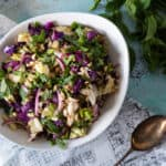Grilled Cabbage Salad with Peanuts and Mint