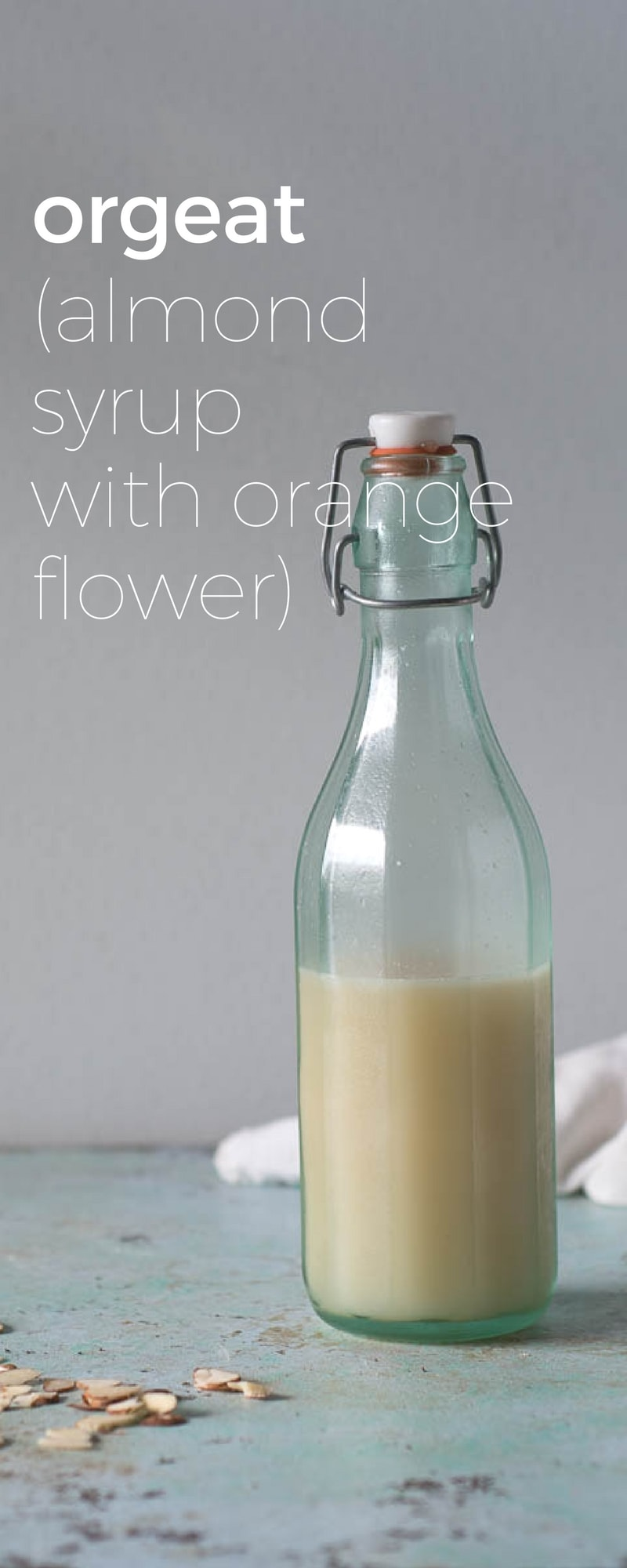 Orgeat. An almond syrup with a hint of orange flower water and a classic cocktail ingredient in the Mai Tai. So easy to make at home.