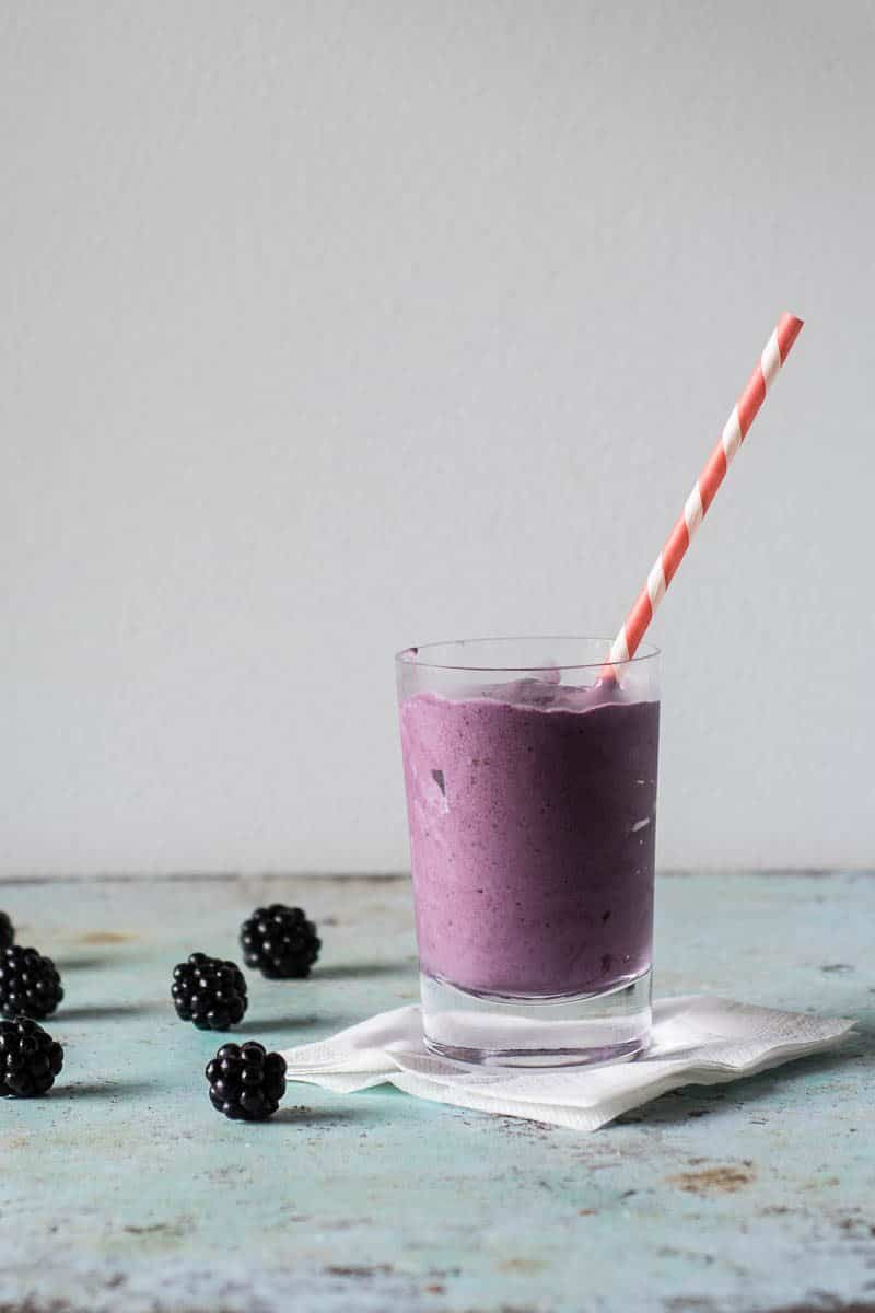 Blackberry Milkshakes. Rich, creamy milkshakes with bright blackberry flavor and a deep purple color. The easiest two-ingredient dessert ever. From Blossom to Stem | Because Delicious | www.blossomtostem.net