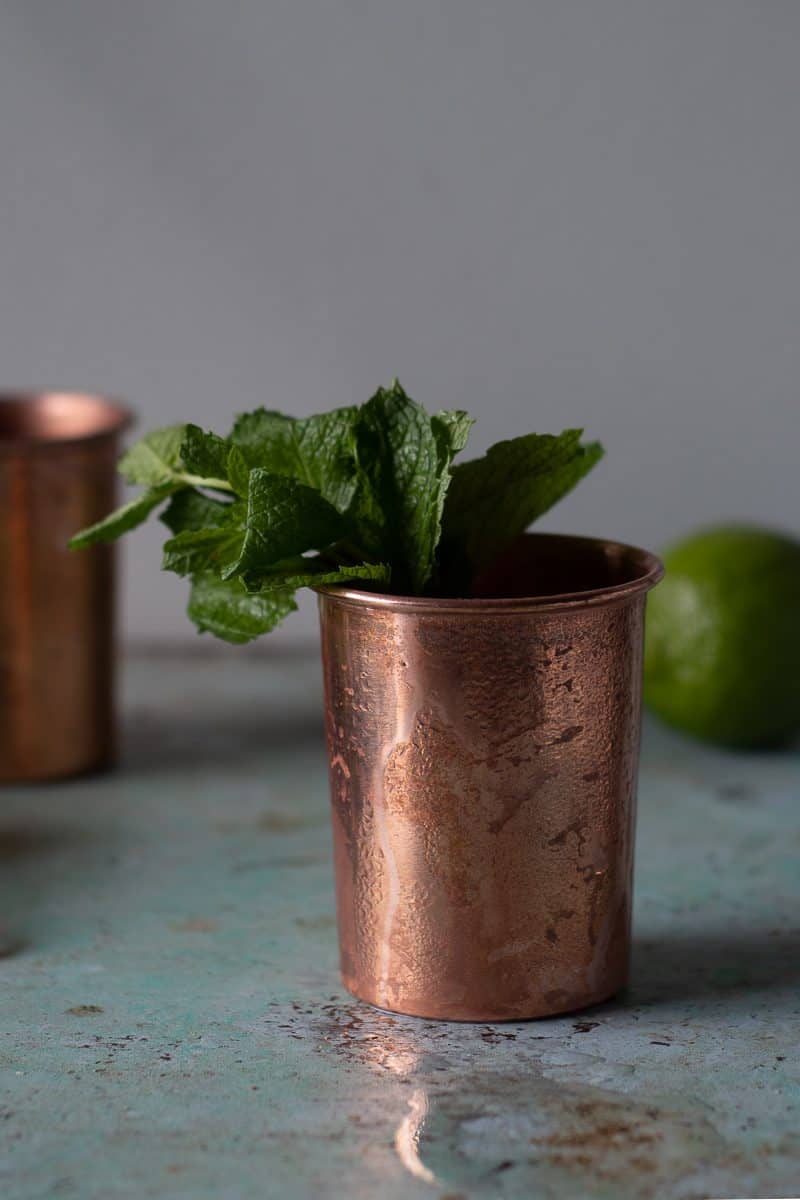 Close Up of Mezcal Mule
