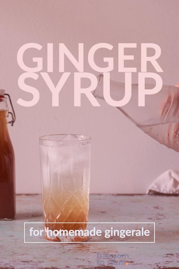 Ginger Syrup for Homemade Gingerale
