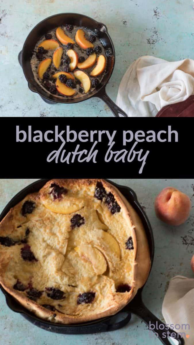 Blackberry Peach Dutch Baby