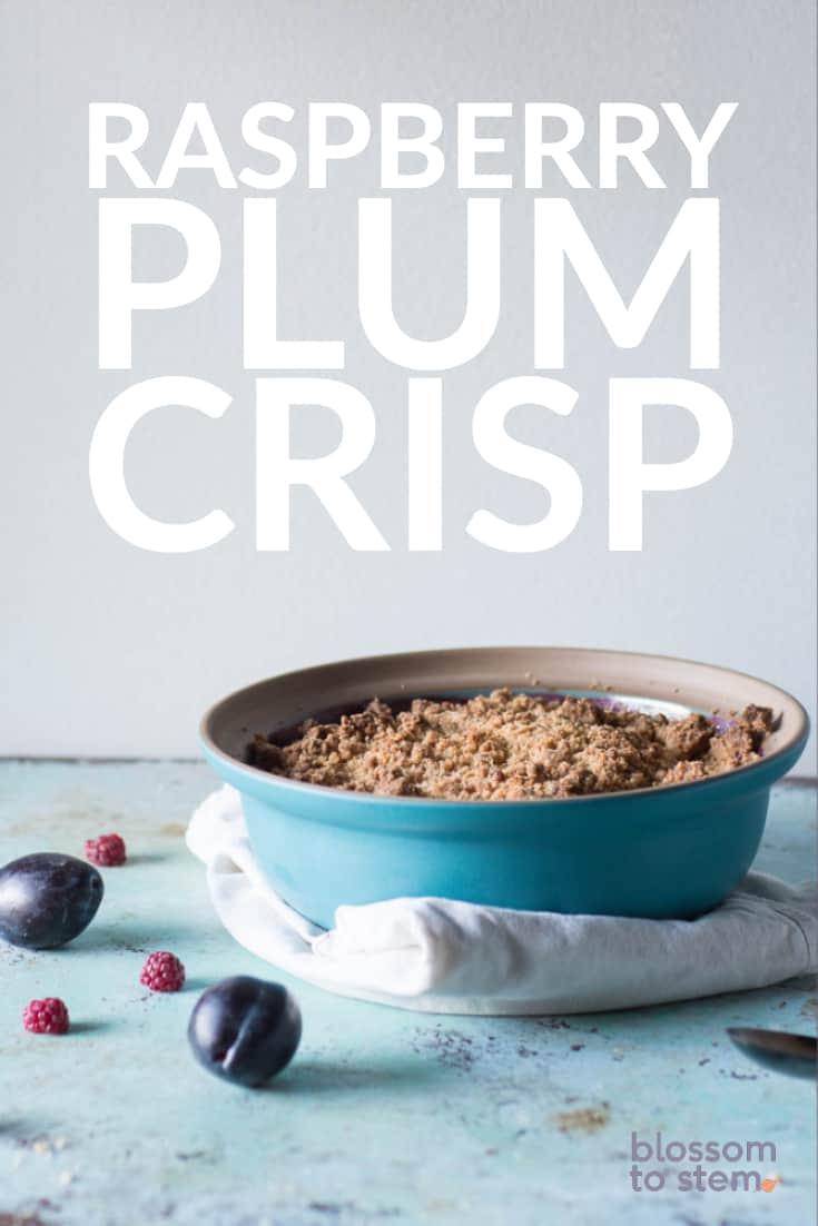 Raspberry Plum Crisp