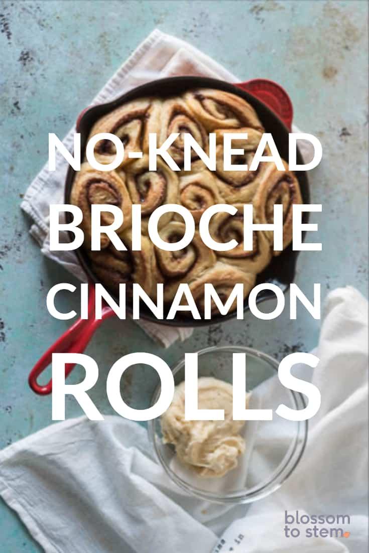 No-Knead Brioche Cinnamon Rolls