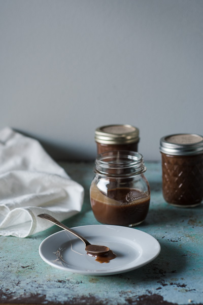 Halvah Milk Chocolate Hot Fudge. This recipe is a twist on hot fudge sauce with sweet sesame paste, milk chocolate, and a hint of coffee. So good. Gluten free. From Blossom to Stem | Because Delicious | www.blossomtostem.net