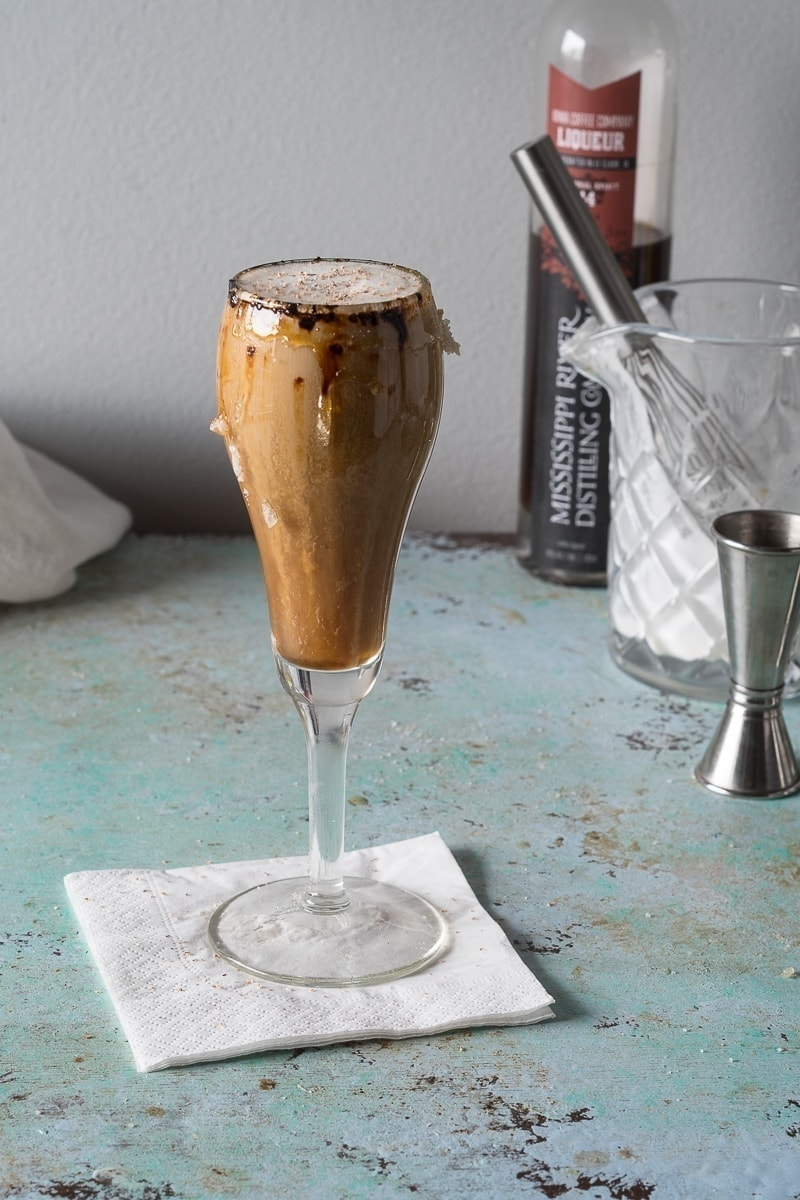 Spanish Coffee. A warm, boozy, coffee cocktail. (You get to light this one on fire!)